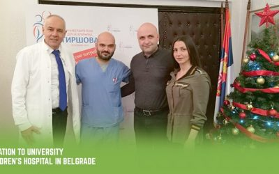 Donation to University Children's Hospital in Belgrade