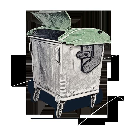 Steel bins - 1100L hybrid