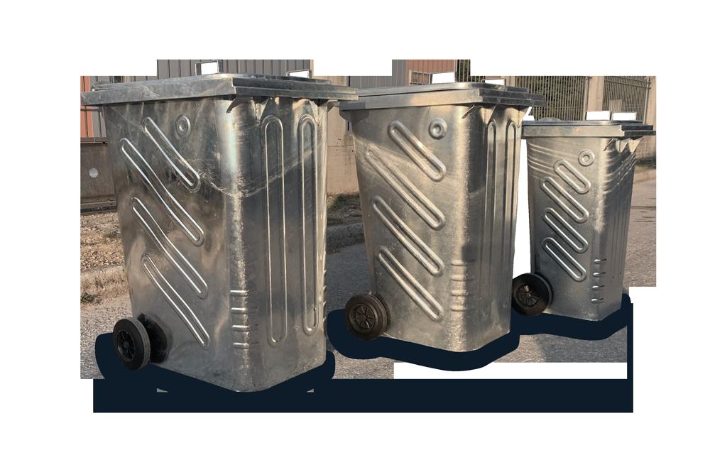 Steel Bins 120L, 240L & 360L