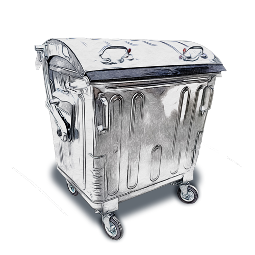 Steel bins with dome lid