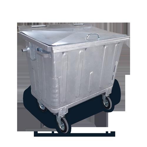 Steel Bin MSE 660L metal lid