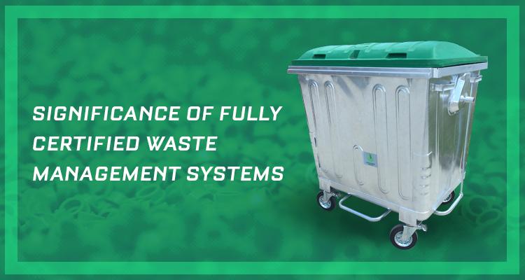 GCI certification waste management systems