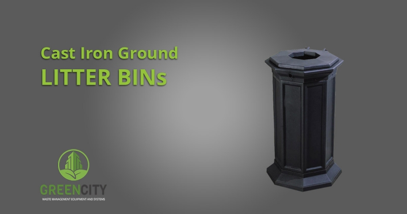 Cast Iron Ground litter bins by GCI