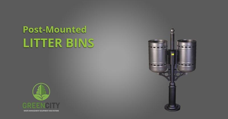 post mounted litter bins