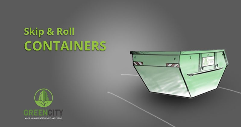 skip and roll container