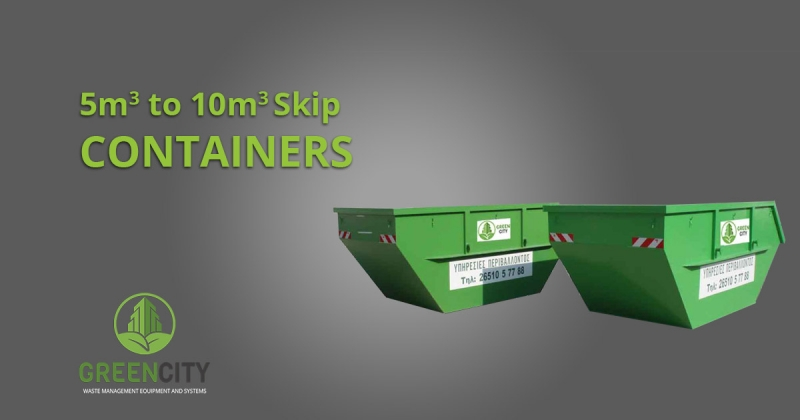 5m3 to 10m3 skip containers