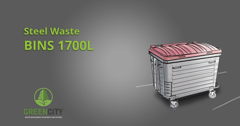 steel waste bins 1700l