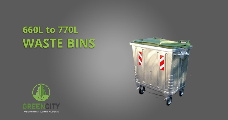 waste bins from 660l to 770l